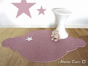 Tapis Forme Nuage : tapis forme nuage crochet en laine antid rapant l 39 atelier carr ~ Teatrodelosmanantiales.com Idées de Décoration