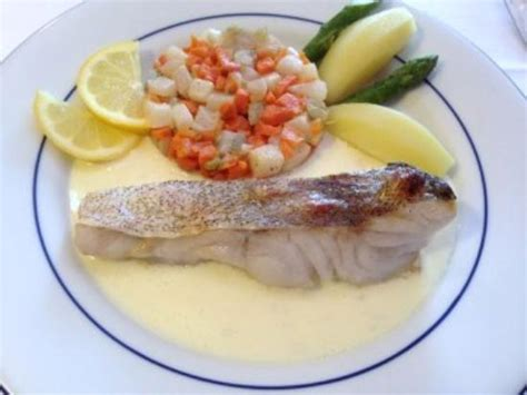 lieu jaune au beurre blanc picture of le crustace penvenan tripadvisor
