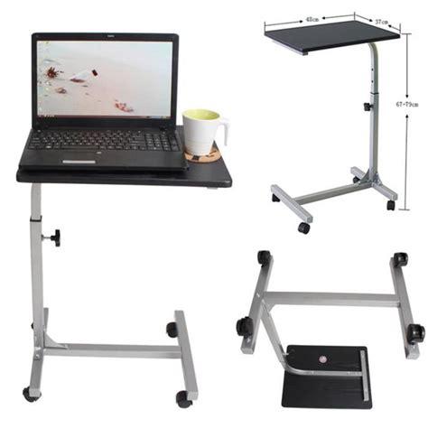 bureau ordinateur portable table pour ordinateur portable hauteur réglable roulettes