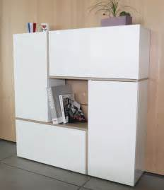 meuble rangement design laque blanc
