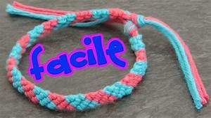 bracelet bresilien 2 couleurs facile