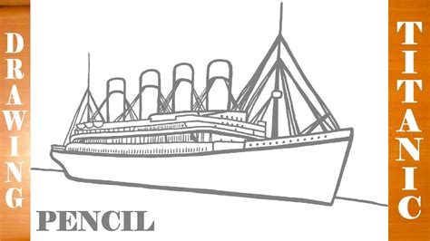 Dibujo Barco Titanic Para Colorear by How To Draw Titanic Ship Easy For Kids Pencil