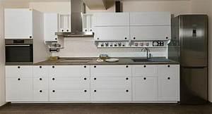 cuisine cuisine blanche plan de travail noir avec argent With plan de travail cuisine blanche