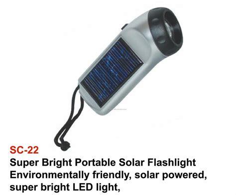 solar flashlight white led light on switch