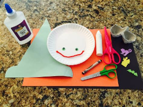 paper plate witch craft  kids network