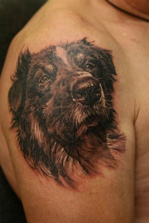 amazing dog tattoos  leg
