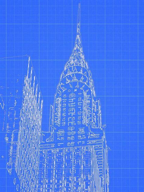 Chrysler Building Blueprint chrysler building blueprint sketch digital by dan sproul