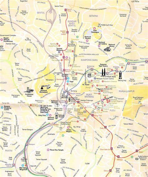 large kuala lumpur maps     print high