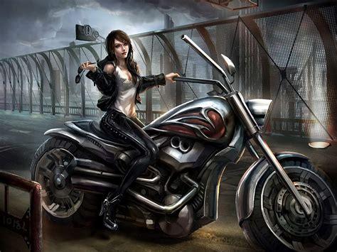 Chopper Girls Motorcycle Wallpaper (73+ Images