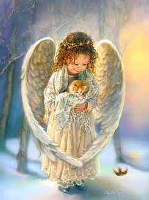 Angels images Little Angel with Kitten wallpaper and ...