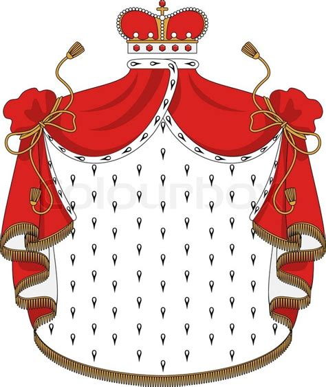 rayo l mantle heraldic royal mantle stock vector colourbox