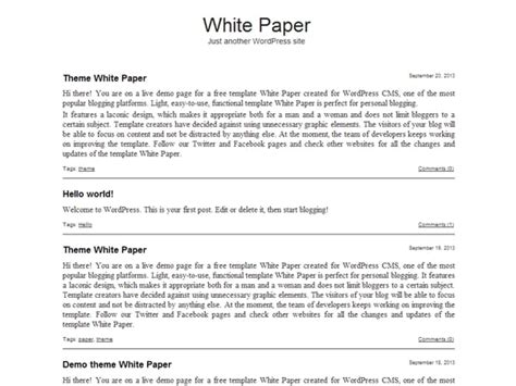 White Paper Template White Paper Templates Formats Exles In Word Excel