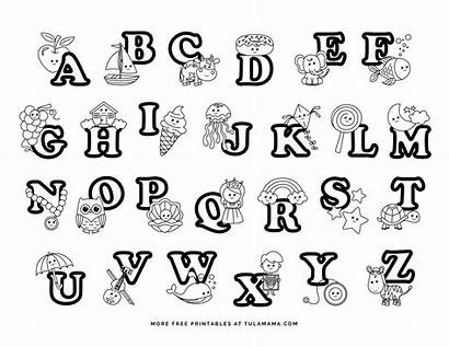 Coloring Pages Abc Alphabet Preschoolers Letters Tulamama