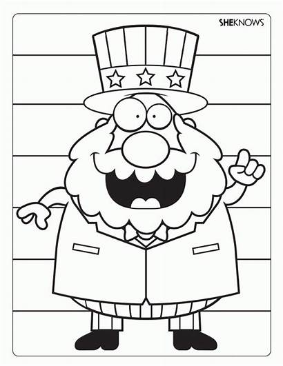 Uncle Sam Coloring Pages Printable Activity 4th
