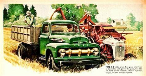 vintage ford truck ads blue oval trucks