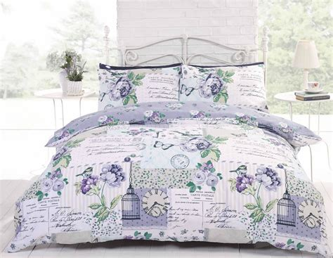 shabby chic blue quilted bedspread patchwork shabby chic duvet cover reversible bedding quilt set french pink blue ebay