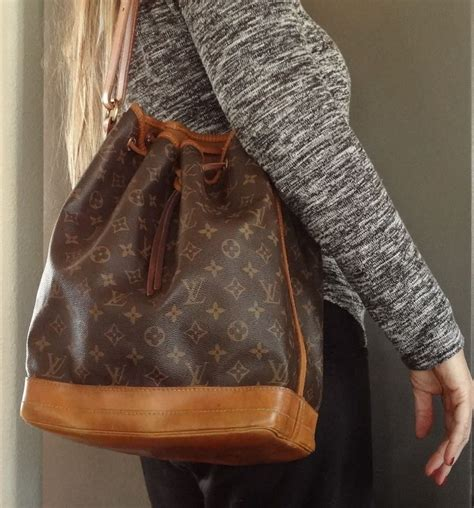 vintage louis vuitton noe large bucket handbag drawstring excellent  clean sturdy bag