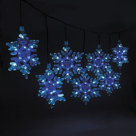 snowflake string lights outdoor snowflake light set oriental trading