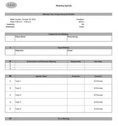 Meeting Agenda and Minutes Template