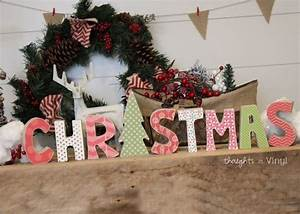 545 best images about craft kits wwwthoughtsinvinylcom With wooden letters for christmas tree