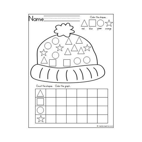 free preschool winter math printables kindergarten