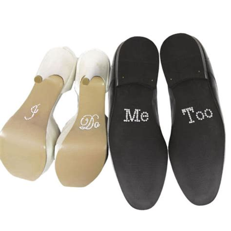 I Do And Me Too Set Wedding Accessory Bridal And Groom Shoes