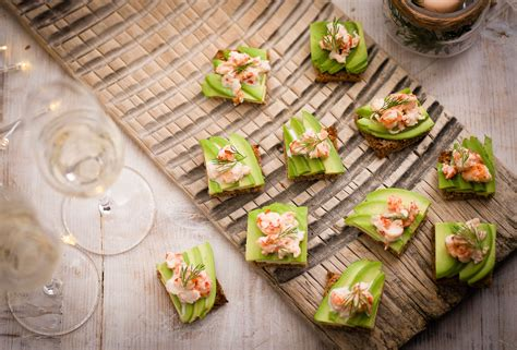 traditional canapes avocado and prawn cocktail toasts recipe olive magazine