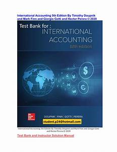 International Accounting 5th Edition Tes  1