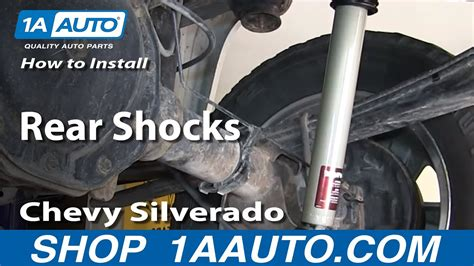 install replace rear shocks   chevy silverado