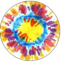 Fold the bottom of your 1/2 heart up along the crease. Tie Dye Coffee Filters