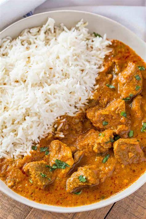 indian lamb curry dinner  dessert
