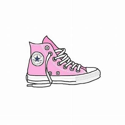 Converse Pink Shoes Drawing Stickers Drawings Clipart