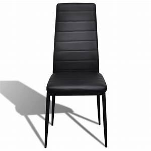 acheter 2 pcs chaise salle a manger noir ligne slim pas With salle À manger contemporaineavec chaise en solde