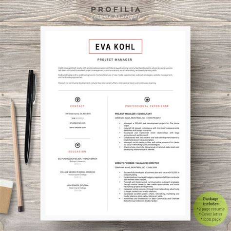 Boutique Resume Template by 143 Best Images About Resume Templates Boutique On