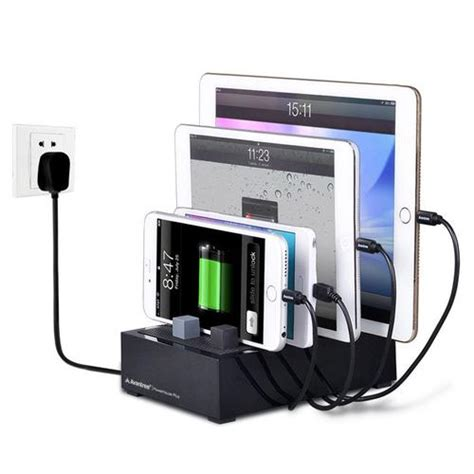 desk l with charging station avantree powerhouse plus multi device usb desk charging