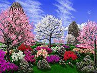 Beautiful Spring Flower Garden