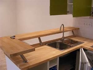 plan de travail pour bar de cuisine plan de travail en With plan de travail pour bar de cuisine