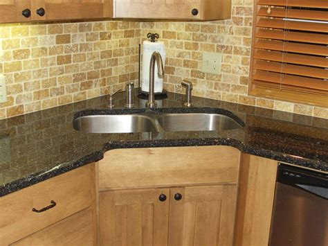 corner sink recessed traditional kitchen omaha by