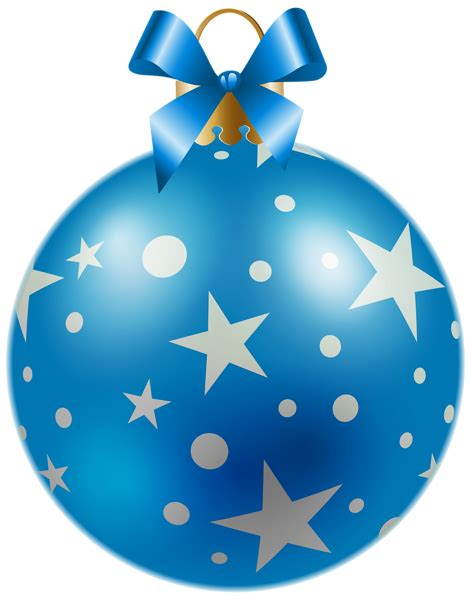 christmas blue ball  stars png clipart image gallery