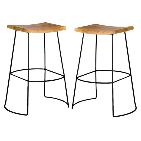 carolina cottage reece   black  natural bar stool