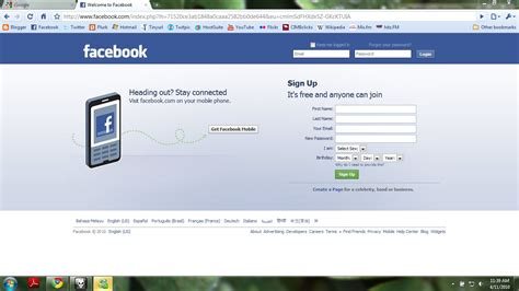Facebook Login Page Wallpaper