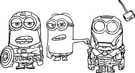Minion Super Heroes Coloring Page Wecoloringpagecom