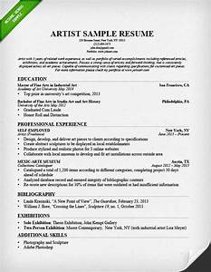 Artist resume sample writing guide resume genius for Artist resume template free