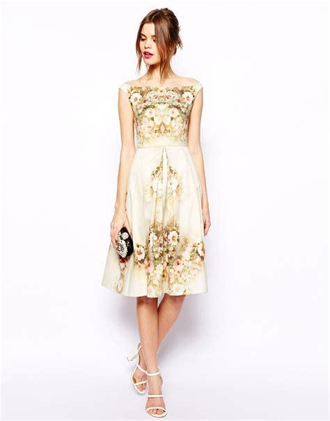 asos vintage floral midi bardot dress