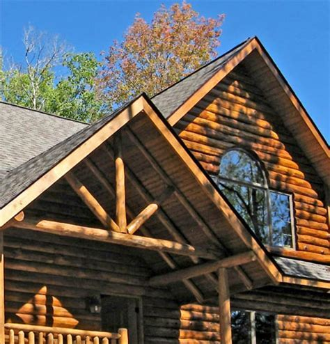 Featured Log Home by Timber Wolf Construction   Custom Log