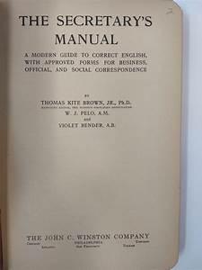 The Secretary U0026 39 S Manual   A Modern Guide To Correct English