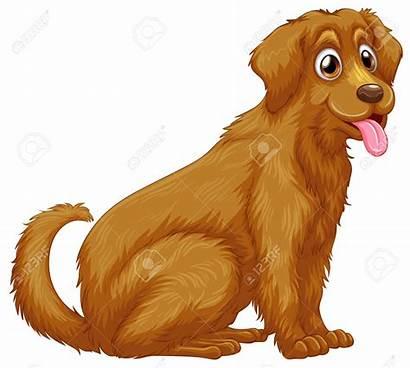 Clipart Dog Golden Retriever Fotosearch Illustration Clip