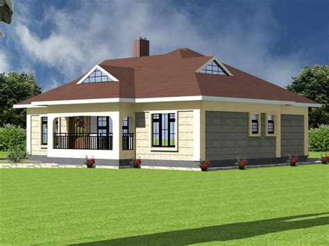 modern bedroom bungalow house plan hpd consult