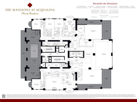 mansions at acqualina floor plans