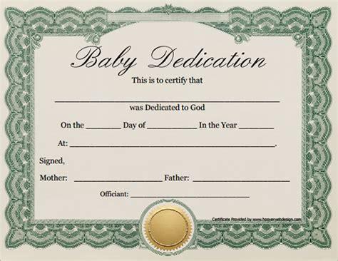 baby dedication certificate    documents